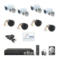 Kit Vidéosorveglianza Ahd Ip Cloud Dvr 4 Canali 4 Télécommande Hd Ir 2 Mpx Hd 1tb