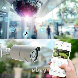 Kit Videosorveglianza Wireless Full Hd Ip 4 Telecamere 2 Mpx 500 Go Wifi Da Remo