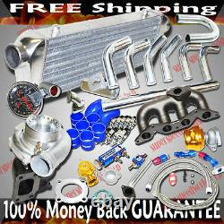 Kits En Fonte Collecteur Gt35 Turbo Pour 02-04 Honda CIVIC D17 1.7l Sohc Seulement