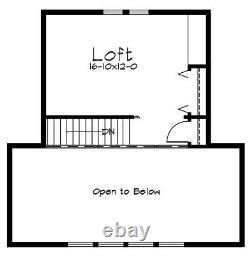 La Forêt Noire 36 X 28 Customizable Shell Kit Home, Livré Prêt À Construire