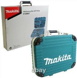Makita P-90532 227 Pièce Kit D'entretien Général Ensemble De Tournevis De Socket Pour Encastrement