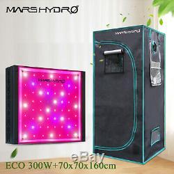 Mars Hydro Eco 300w Led Élèvent La Lumière + 70x70x160cm Intérieur Cultivez Tente Plant Kits De Culture