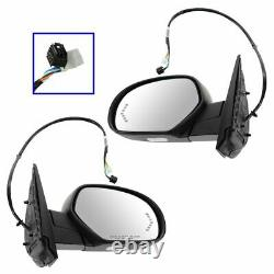 Miroirs Power Heated Signal Puddle Paire Set Pour Chevy Gmc Pickup Suv