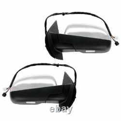 Mirror Power Folding Heated Memory Puddle Signal Chrome Paire Pour Gm Pickup Suv