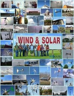Missouri Freedom 12 Volt 1600 Watt 5 Lame Éolienne Et Contrôleur De Charge Kit
