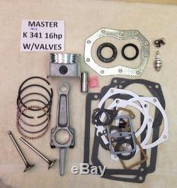 Moteur Reconstruire Withvalves Master Kit Pour Kohler K341 16hp M16 With16hp Tige Non 12hp
