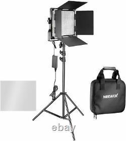 Neewer 2 Pièces Bi-colore 660 Led Video Light Nd Stand Kit 3200-5600k Cri 96+