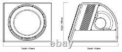 Nouveau Subwoofer De Voiture Active Edge Edb12a 12 Construit Dans Le Kit De Câblage Amp Inc