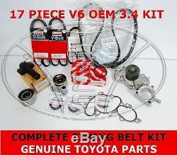 Nouvelle D'origine Toyota 3.4 V6 5vzfe Pompe À Eau Courroie De Distribution Kit 17 Pièces 4runner Tacoma