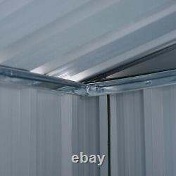 Outsunny 6x4ft Metal Garden Storage Shed Lockable Patio Tool Kit Fondation Gratuite