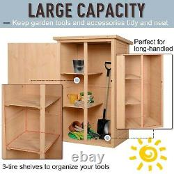 Outsunny Garden Outdoor Wood Storage Shed Utility Tool Kit Backyard Furniture
