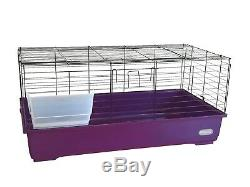 Patrimoine Lapin 100cm Violet Grand Cochon Cage D'intérieur Kit Guinée Rongeur Hutch Accueil