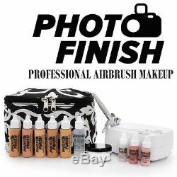 Photo Finish System Airbrush Makeup Professional, Kit / Foire À Moyen Lumineux