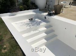 Piscine Diy Build Beton Auto Re-forcées Piscine Kit 24' X 12 Floor Flat