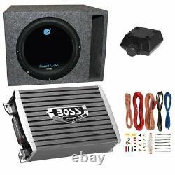 Planet Audio 1800w Subwoofer Avec Amplificateur 1500w, Kit D'amplificateur Et Boîtier Q-power