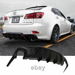 Pour 06-13 Lexus Is250 Is350 4 Dr Ajouter Sur Black Rear Bumper Lip Diffuser Kit Du Corps