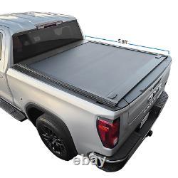 Pour 2019-2021 Silverado 5.8ft Tonneau Cover Aluminium Rétractable Waterproof Hard
