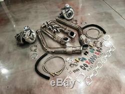 Pour 94-04 Ford Mustang Twin Turbo T3t4 Turbocompresseur Kit 3.8 V6 Custom Built Pony