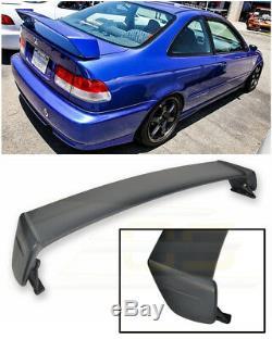 Pour 96-00 Honda CIVIC Coupé Mugen Style Noir Coffre Arrière Primer Couvercle Aile Aileron