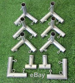 Pratique Cage Golf Net 10' X 10' X 10' (# 252 Poly) Cadre Kit & Baffle Inclus