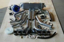 Race Personnalisée T3t4 T4 T3 Turbocharger Turbo Boost Kit 500hp Paquet Intermédiaire