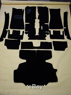 Remplacement Noir Boucle 11 Pc. Kit Sol Tapis Pour 1971-1974 Datsun 240z, 260z