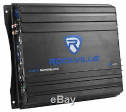 Rockville Rv12.2a 1200w Dual 12 Boîtier Subwoofer Voiture + Amplificateur Mono + Amp Kit
