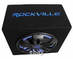Rockville Rvb12.1a 12 500w Ensemble De Subwoofer+sous-fermeture+amp