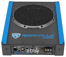 Rockville Uss8 8 600w Kit De Subwoofer Sub+amp Sous-marin Sous-marin