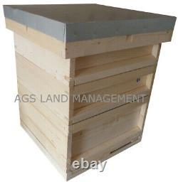 Ruche Nationale D'abeilles Avec Boîte À Couver Et Deux Supers. Porcs D'abeilles En Kit De Ruches