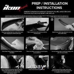 S'adapte 04-10 Bmw E60 E61 Série 5 H Style Avant Pare-chocs Lip Spoiler Pu