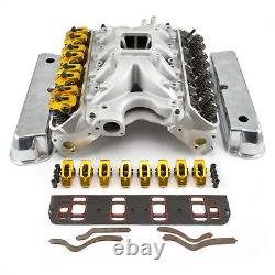 S'adapte Ford 351w Windsor Solide Ft 210cc Cylinder Head Top End Engine Combo Kit