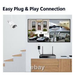 Sannce Wi-fi Sans Fil 3mp Cctv Kit 8ch 5mp Nvr Home Security Ip Audio Camera Kit