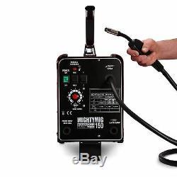 Sealey 150amp Kit Intégral De Soudure De Mig Mig / Gasless Avec Co2, Flux Et Fil D'acier, 5x Pointes