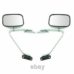 Side View Manual Mirrors Chrome Paire Set For Ford F-series Pickup Truck Side View Manual Mirrors Chrome Paire Set For Ford F-series Pickup Truck Side View Manual Mirrors Chrome Paire Set For Ford F-series Pickup Truck Side View