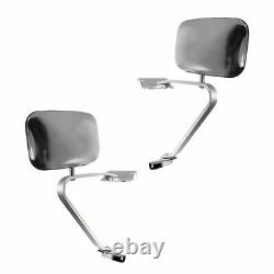 Side View Manual Mirrors Stainless Steel Paire Set For Ford F-series Pickup Truck Side View Manual Mirrors Stainless Steel Paire Set For Ford F-series Pickup Truck Side View Manual Mirrors Stainless Steel Paire Set For Ford F-series Pickup Truck Side View