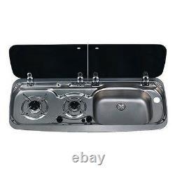 Smev Dometic 9222 Campervan Sink & Cooker / Hob Combi Unit Kit & Template Rh 10l