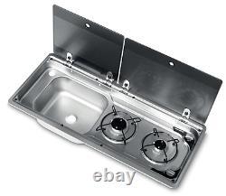 Smev Dometic 9722 Campervan Sink & Cooker / Hob Combi Unit Kit Lh 10l & Template