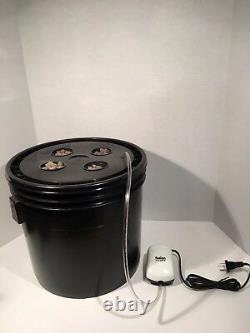 Système Hydroponique Complet 4 Site Dwc Hydroponic Grow Kit Bubble Bucket