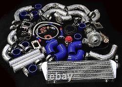 T04e 12pc T3/t4 Universal Turbo Kit Turbocompresseur À Bande V Interrefroidisseur