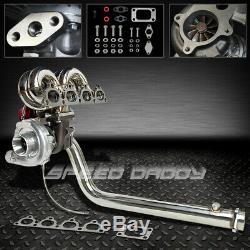T3 Chargeur Turbo Kit + Ram + Collecteur Klaxon + Downpipe Wg 88-00 CIVIC Crx D15 D16 Ej Ek