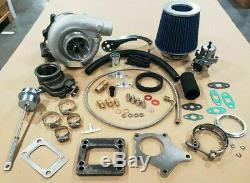 T3 / T4 Hybride T3 Turbocompresseur Kit T4 Turbo Ligne -3an Ss, Plongeur, Bov, Étape 1