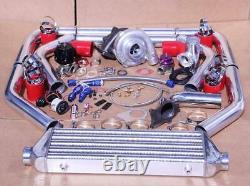 T3 / T4 Turbo Kit Ar Turbocompresseurs. 63 Etape 3 350hp CIVIC Crx Del Sol Integra 88-00