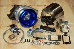 T3 / T4 Turbo Kit Interne Wastegate Configuration V-bande, Alimentation Ss Huile, Heatshield, Bov