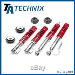 Ta Technix Premium Gewindefahrwerk + 4x Domlager Va + Ha Vw Golf 2, 3, Vento