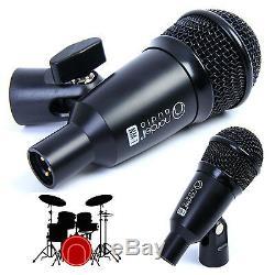 Tambour Microphones Set'nordell ' 7 Pce MIC Kit, 5 Clips Rim, 7 Câbles Xlr + Étui