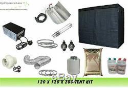 Tente Grandir 120 & Grow Light 600w & 4 Fan Kit & Coco Kit Complet Mis En Place