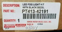 Toyota Brouillard Led Light Kit De Mise À Niveau, Lunette Noire, Accessoire D'origine Oem