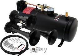 Train Kit Klaxon Pour Camion / Voiture / Pick-up Fort Système / 1g Air Tank / 150 Psi / 3 Trompettes