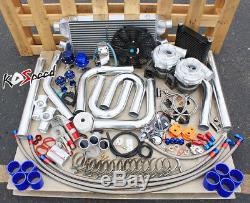 Tuyau Fmic Personnalisé De Chargeur Diy De Kit De Turbo Jumeau De La Haute Performance Jumelle T70 Turbo
